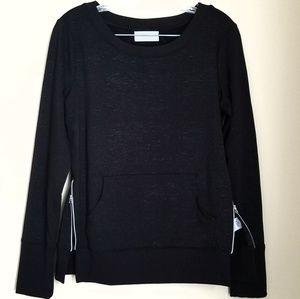 Side Zip Pullover Sweatshirt Sweater